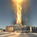 Gasbohrer in der Arktis